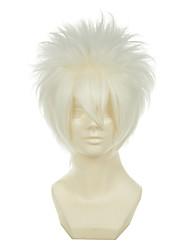 Hitman Reborn Sakata Gintoki Byakuran Gesso White Versatile Towering Short Halloween Wigs Synthetic Wigs Costume Wigs