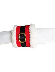4 Pcs/Lot Christmas Napkin Ring Santa Clause Belt Buckle Napkin Rings Package Christmas Decoration For Party Supplies