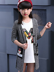 Girls' Casual/Daily Print Sweater & Cardigan,Cotton Fall Long Sleeve