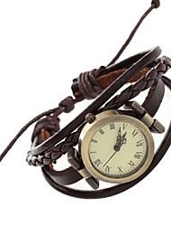 Женские Дети Модные часы Наручные часы Часы-браслет / Панк Кварцевый Японский кварц PU Группа Винтаж Богемные Кольцеобразный Повседневная