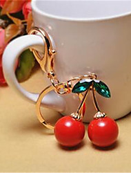 Europe And The Lovely Cherry Red Keychain Ladies Bag Ornaments