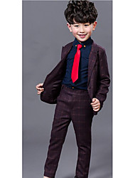 Boy's Formal Solid Suit & BlazerCotton Spring / Fall Blue / Purple