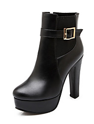 Women's Boots Spring / Fall / Winter Platform / Shoes & Matching Bags Leatherette/ Casual Chunky Heel Buckle / Others