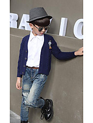 Boy's Casual/Daily Striped Sweater & CardiganWool Winter / Spring / Fall Blue / Red