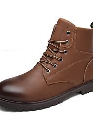 Men's Fashion Boots Comfort Leather Outdoor/Casual Walking High Top Combat Boots Tooling Boots
