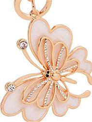 ailes de chute de papillon clés de voiture de la chaîne de clés d'or