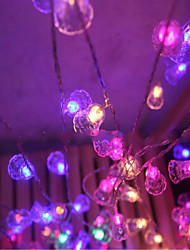 Light string Of Christmas Lights Holiday 10 Meters of Lamps Waterproof Outdoor Bell Wedding Decoration 50 Lamp Holder