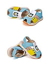Boy's Sandals Summer Comfort Cowhide Outdoor / Casual Flat Heel Hook & Loop Blue / Brown Walking / Others