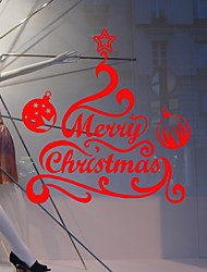 Merry Christmas Wall Stickers  Decorative Wall Stickersvinyl Material Washable  Home Decoration Wall Decal
