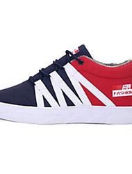 Herren-Sneaker-Outddor Lässig Sportlich-Denim Jeans-Flacher Absatz-Komfort-Schwarz Blau Rot Grau