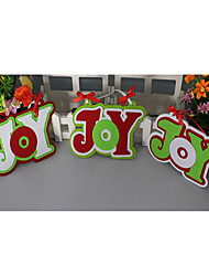 Two Packaged For Sale Christmas JOY Hang Christmas Supplies Creative Christmas Decoration