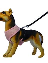 Gatos / Cães Arreios / Trelas Refletor / Retratável / Fantasias / Respirável / Segurança / Macio / Corrida / Colete / Casual Sólido