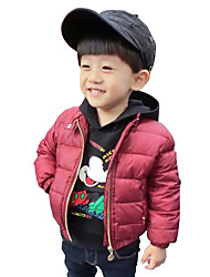 Boy's Cotton Fashion Spring/Fall/Winter Casual/Daily Print Long Sleeve Thicken Padded Jacket Coat