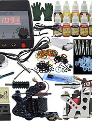 Ophir Complete Tattoo Kit Crocodile Shape Machine Tattoo Set 12x10ml InksNeedleGrip_TA004