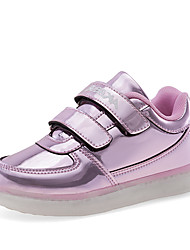 Boy's and Girl LED shoes Spring / Summer / Fall / Winter Novelty Leather Casual Flat Heel Hook & Loop