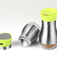 2pcs per set Kitchen Stainless Steel Plastic Shaker & Mill