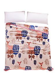 Flanela Multi Cores,Sólido Floral / Botânico 100% Poliéster cobertores 200x230cm