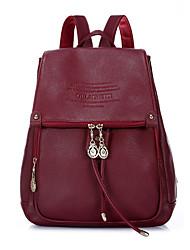 Casual Backpack Women Cowhide Brown Black Burgundy Khaki