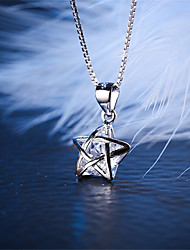 Women's Jewelry S925 Silver Zircon Charm Star-shaped Pendant for Women