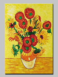 Hand Painted Famous Sunflower Oil Painting On Canvas Wall Art Pictures For Home Decoration Ready To Hang