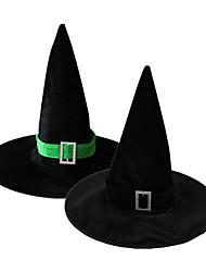 1pc chapeau de magicien rectangulaire pour costume de halloween couleur aléatoire