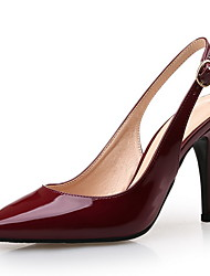 Women's Sandals Spring Summer Fall Slingback Patent Leather Wedding Dress Party & Evening Stiletto Heel Others Burgundy Walking
