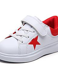 Para Meninas-Tênis-Conforto-Rasteiro-Preto Azul Vermelho Verde Escuro-Couro Ecológico-Ar-Livre Casual Para Esporte