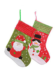 A snowflake Christmas tree embroidery socks socks gift bag gift bag Christmas tree Christmas gift bag