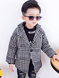 Boy's Casual/Daily Striped Suit & BlazerCotton Winter / Fall Black