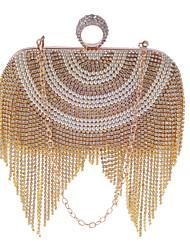 L.west mulher moda requintada luxuosa oxidação de zircão pérola tassel noite saco