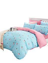 Mingjie  Wonderful Bule and Pink Bedding Sets 4PCS for Twin Full Queen King Size from China Contian 1 Duvet Cover 1 Flatsheet 2 Pillowcases