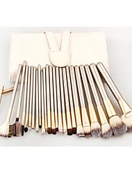 24 Blush Brush / Eyeshadow Brush / Brow Brush / Eyeliner Brush Professional / Travel / Full Coverage Wood