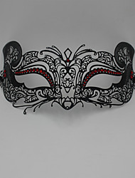Women's Halloween party Carnival laser cutting metal Venice fox mask3006C1