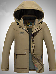 Randonnées Veste Softshell Homme Etanche / Respirable / Garder au chaud / Pare-vent / Vestimentaire Hiver TérylèneBleu Foncé / Olive /