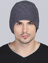 Women Men Winter Casual Outdoor Solid Color wool Twist knit warm knitted Cashmere hedging cap