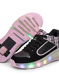 Unisex Sneakers Fall Comfort Leatherette Casual Flat Heel Others Black Pink Others