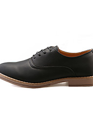 Men's Oxfords Spring / Fall Comfort PU Casual Low Heel Others / Lace-up Black / Brown / Gray Walking
