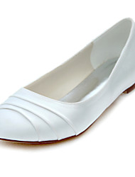 Women's Flats Spring / Summer / Fall Others Stretch Satin Wedding /  Dress Flat Heel Ruffles Ivory Others