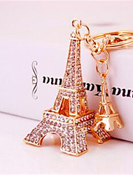 Cool Hee Jewelry Creative New Car Ornaments Keychain Full Diamond Pendant 617 Eiffel Tower Keychain Bags