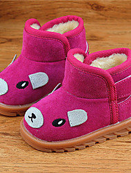 Girl's Boots Others Fleece Casual Black Yellow Pink Fuchsia