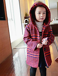 Girl's Casual/Daily Striped Down & Cotton PaddedCotton Winter Red