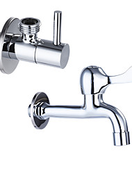 Contemporary Standard Spout Centerset Clawfoot with Brass Valve Single Handle One Hole for Chrome Kitchen faucet/ Angle valve JL-LP02/JL-JF02
