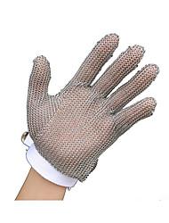 luvas resistentes a cinco dedos de corte de aço inoxidável