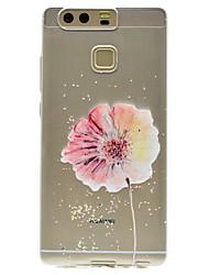 Pour Transparente Motif Coque Coque Arrière Coque Fleur Flexible PUT pour HuaweiHuawei P9 Huawei P9 Lite Huawei P9 plus Huawei P8 Lite
