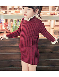 Girl's Casual/Daily Solid Sweater & Cardigan / Overall & JumpsuitAcrylic Winter / Spring / Fall Black / Red / Gray