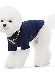 Hunde Pullover Blau Grau Hundekleidung Winter Frühling/Herbst einfarbig Modisch