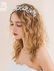 Water Dance bridal  Head Flower Handmade Wedding Korea Style Flower Hair Accessories Marriage Accessories Pearl Wreath
