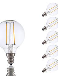 2W E12 Lâmpadas de Filamento de LED G16.5 2 COB 200 lm Branco Quente Regulável V 6 pçs