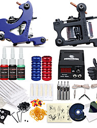 dragonhawk® professionele tattoo kit 2 machines