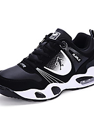 Men's Athletic Shoes Spring / Fall Comfort PU Athletic Flat Heel Lace-up Blue / Black and   and White Basketball